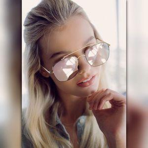 Quay Australia Aviator Mirrored Sunglasses